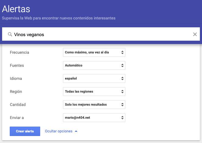 alertas google seo