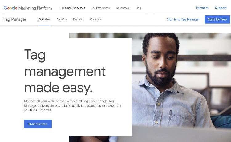 Regístrate en Google Tag Manager